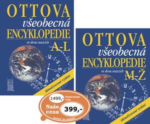 Obrázok Ottova všeobecná encyklopedie ve dvou svazcích A-L, M-Ž