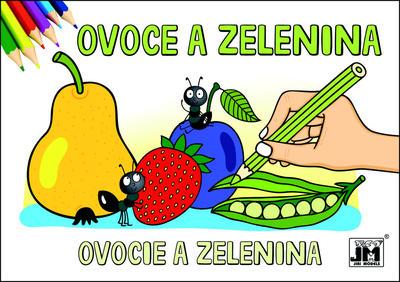 Obrázok Ovoce a zelenina - omalovánka