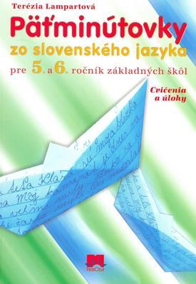 Obrázok Päťminútovky zo slovenského jazyka pre 5. a6. ročník základných škôl
