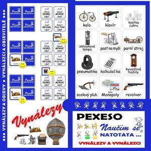 Obrázok Pexeso Natotata Vynálezy a objevy