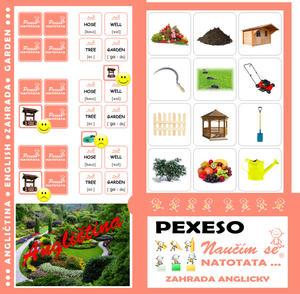 Obrázok Pexeso Natotata Zahrada anglicky