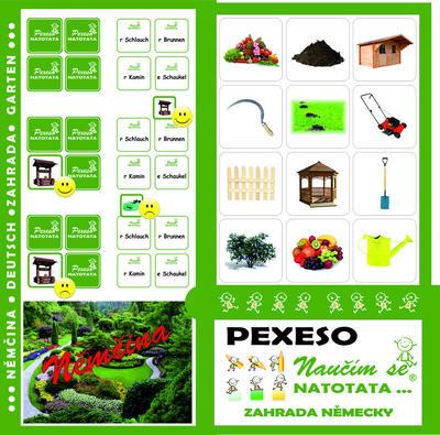 Obrázok Pexeso Natotata Zahrada německy