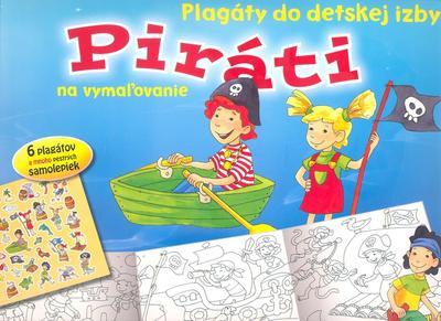 Obrázok Piráti Plagáty do detskej izby na vymaľovanie