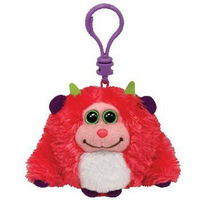 Obrázok Plyš očka Monstaz neon pink přívěšek