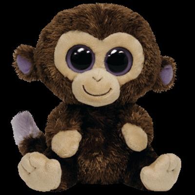 Obrázok Plyš očka opice velká tmavě hnědá