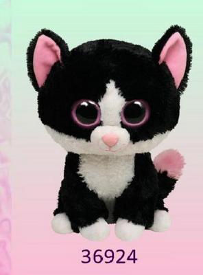 Obrázok Plyš očka velká kočka černobílá