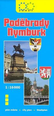 Poděbrady, Nymburk plán měst 1:16 000