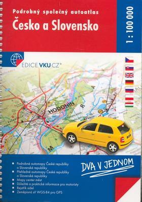 Obrázok Podrobný společný autoatlas Česko a Slovensko