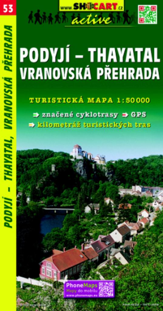 Podyjí - Thayatal, Vranovská přehrada 1:50 000