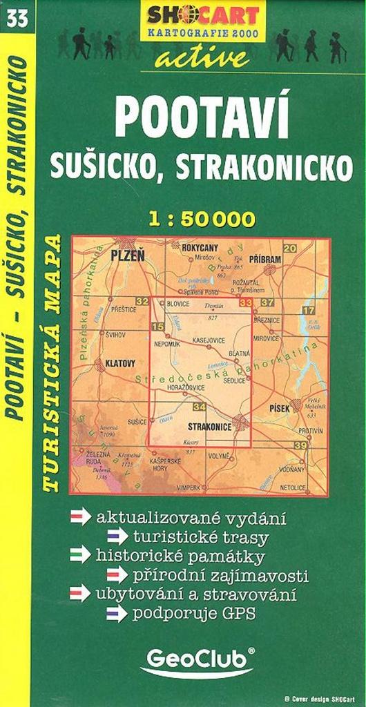 Pootaví, Sušicko, Strakonicko 1:50 000