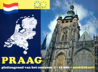 Obrázok Praag plattengrond van het centrum 1:15 000 + ansichtkaart