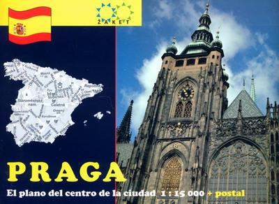 Obrázok Praga El plano del centro de la ciudad 1:15 000 + postal