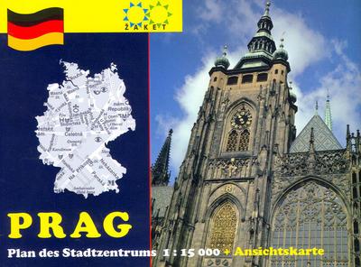 Obrázok Prag Plan des Stadtzentrums 1:15 000