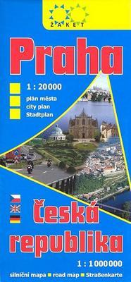 Obrázok Praha 1: 20 000 Česká republika 1: 1 000 000