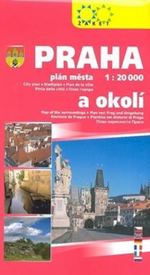 Obrázok Praha a okolí 1:20T/1:150T