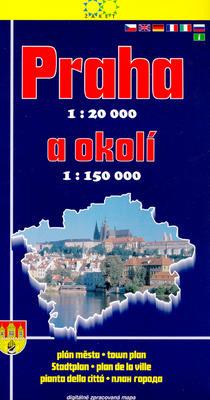Obrázok Praha a okolí 2004 1:20 000