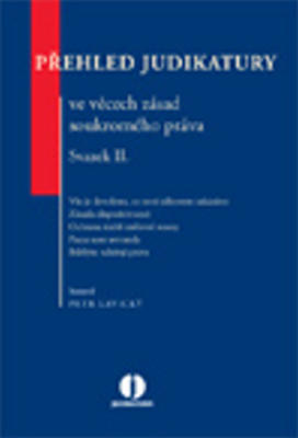 Obrázok Přehled judikatury ve věcech zásad soukromého práva
