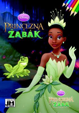 Princezna a žabák - omalovánka