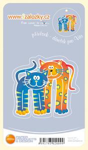 Obrázok Průsvitná záložka Dvě kočky PZ - 013