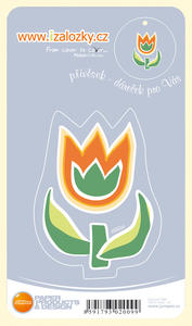 Obrázok Průsvitná záložka Tulipán - PZ 008