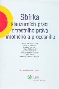 Obrázok Sbírka klauzurních prací z trestního práva hmotného a procesního
