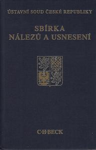 Obrázok Sbírka nálezů a usnesení ÚS ČR, svazek 63