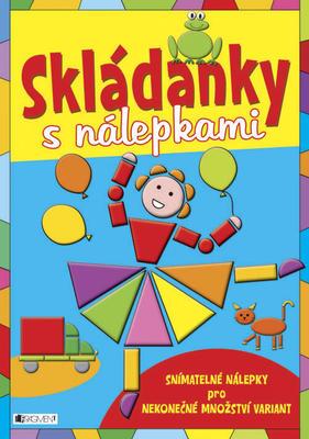 Obrázok Skládanky s nálepkami modrá