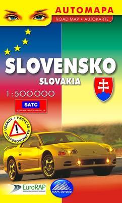 Slovensko  automapa 1 : 500 000 Automapa Road map Autokarte
