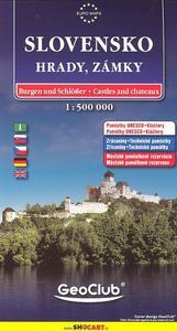 Obrázok Slovensko Hrady, zámky 1:500 000