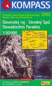 Obrázok Slovenský raj Stredný Spiš 1:50 000
