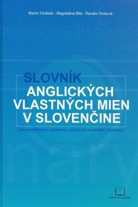 Obrázok Slovník anglických vlastných mien v slovenčine