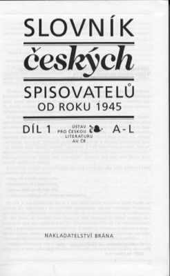Obrázok Slovník československých spisovatelů od roku 1945 1.díl A-L