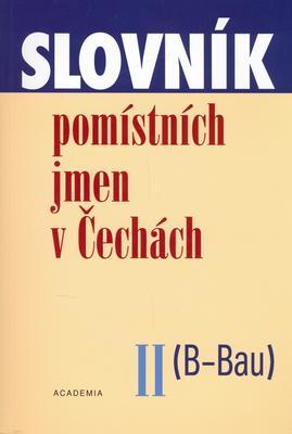 Obrázok Slovník pomístných jmen v Čechách II.