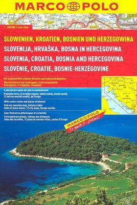 Obrázok Slowenien, Kroatien, Bosnien und Herzegowina 1:300 000