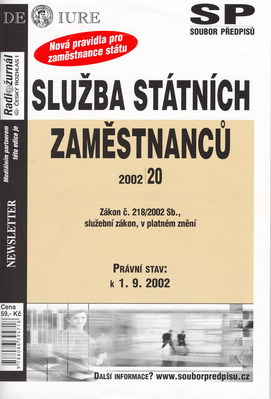 Obrázok Služba státních zaměstanců k 1.9.2002