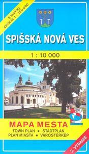 Obrázok Spišská Nová Ves 1 : 10 000 Mapa mesta Town plan Stadtplan Plan miasta Várostérk