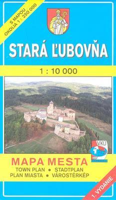 Obrázok Stará Ľubovňa 1 : 10 000 Mapa mesta Town plan Stadtplan Plan miasta Várostérkép