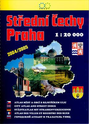 Obrázok Střední Čechy, Praha 1:20000 2vydání 2004/2005