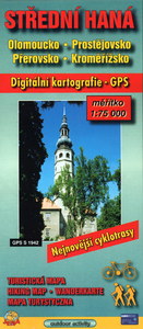 Obrázok Střední Haná 1:75000  Olomoucko, Prostějovsko, Přerovsko, Kroměřížsko