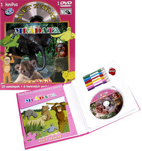 Obrázok Svět zvířat Mláďata (kniha omalovánek s DVD)