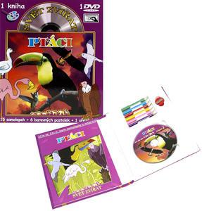 Obrázok Svět zvířat Ptáci (kniha omalovánek s DVD)