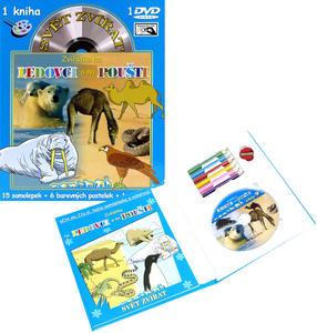 Obrázok Svět zvířat Zvířátka na ledovci a na poušti (kniha omalovánek s DVD)