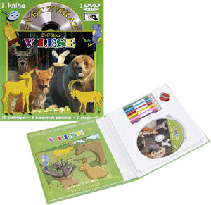 Obrázok Svět zvířat Zvířátka v lese (kniha omalovánek s DVD)