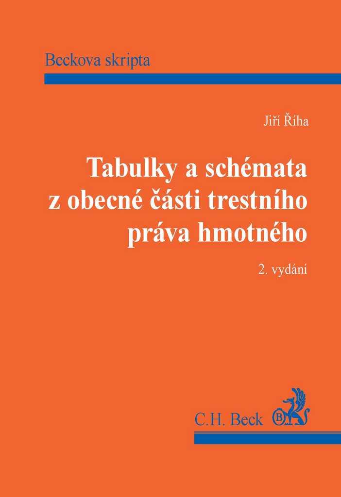 Tabulky a schémata z obecné části trestního práva hmotného, 2. vydání - JUDr. Jiří Říha Ph.D.