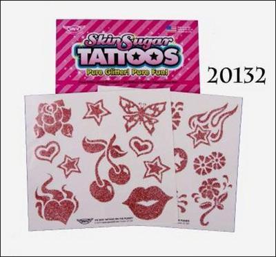 Obrázok Tetování gliter jednobarevné