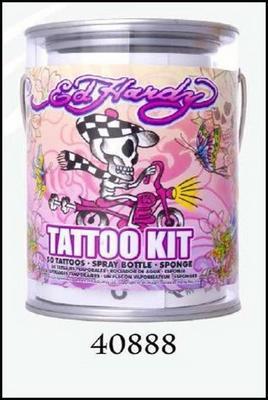 Obrázok Tetování plechovka Ed Hardy Pink