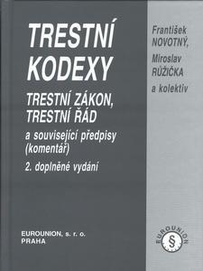 Obrázok Trestní kodexy 2.dopl.vyd.