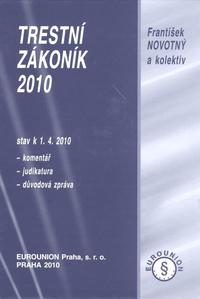 Obrázok Trestní zákoník 2010