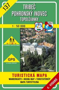 Obrázok Tribeč Pohronský Inovec Topoľčianky 1:50 000