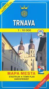 Obrázok Trnava 1:10 000 Mapa mesta Town plan Stadtplan Plan miasta Várostérkép